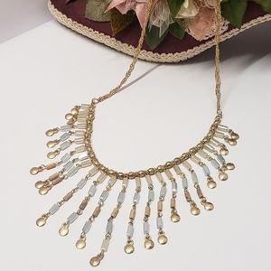 Unique Vintage Gold Tone Statement Necklace